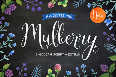 Mulberry font from Creative Market