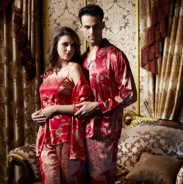 Baju Tidur Pasangan Mewah Bahan Sutra Mahal Recommended