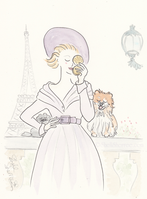 Fashion and Fluffballs illustration: Agent Violet and the Powder Compact © Shell-Sherree
