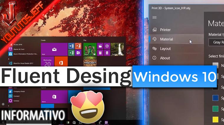 Fluent Desing Windows 10 Fall Creators Update