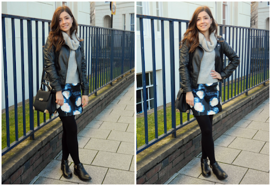 WHAT I WORE | GREY & BLOOMS