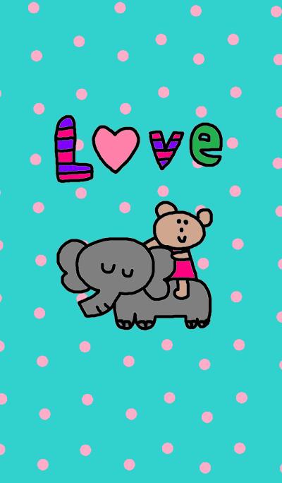 Lilo & elephant blue