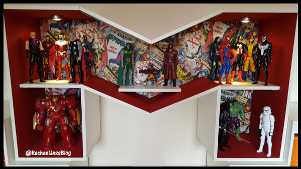 final shelving unit created for titan figures