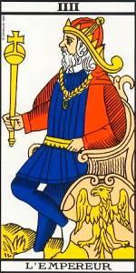 El Emperador- Arcano IV-Tarot de Marsella