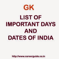 List of Important Days and Dates of India ( National and
