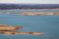 Lake Travis near Austin, Texas. (Credit: Bobby Magill/Climate Central) Click to Enlarge.