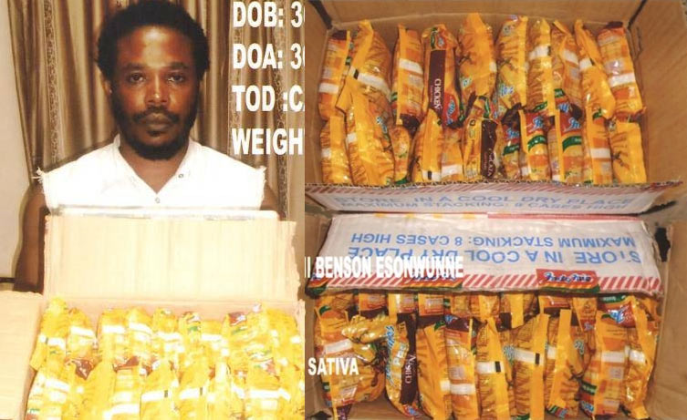 NDLEA nabs man trying to export cannabis inside Indomie noodles