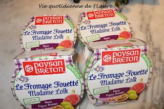 Vie quotidienne de FLaure: Fromage fouetté Madame Loïk noix raisin figue