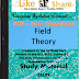 Field Theory PDF Study Materials cum Notes, Engineering Electrical E-Books Free Download