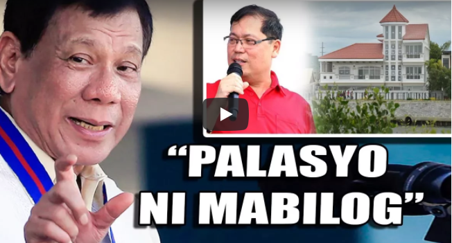 KINOMPIRMA ni Duterte Ang Palasyo ni Mayor Mabilog