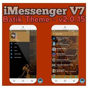 BBM Mod iMessenger V7 Batik Theme Based Official 3.0.1.25 Apk