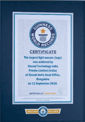 Xiaomi Is At No.1 From Last One Year In India; Xiaomi Registered In Guinness World Record