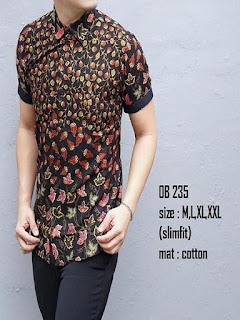 baju batik pria kombinasi polos