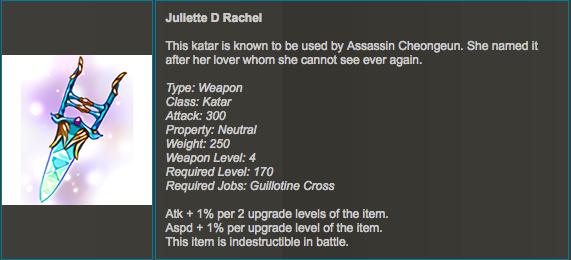 how to Juliette D Rachel? - Thief Class - WarpPortal Community Forums