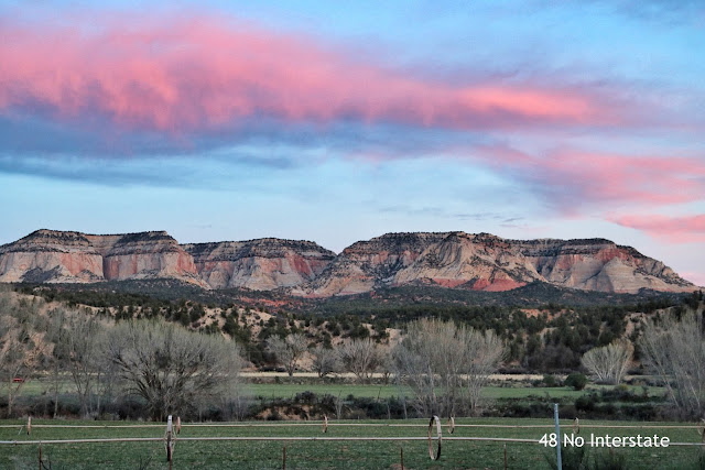 48 No Interstate: How to Create a Road Trip Itinerary - Sunset from the road, Utah