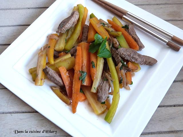 Boeuf carotte revisité façon wok