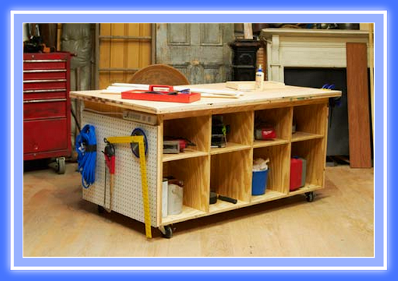 Banco de trabajo de madera web del bricolaje dise o diy - Mueble para herramientas ...