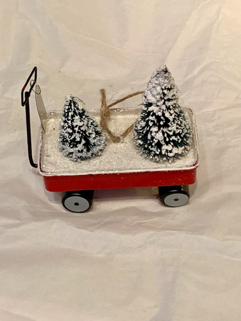 Wagon Christmas Ornament