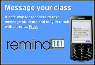 Remind 101 to message students and parents - free and safe