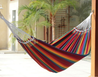 NOVICA Multi-Color Double Brazilian Hammock