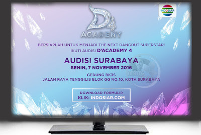Audisi D'Academy 4 di kota Surabaya tanggal 7 November 2016.