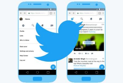 احميل تطبيق  Twitter Lite لتقليل مساحة الذاكرة