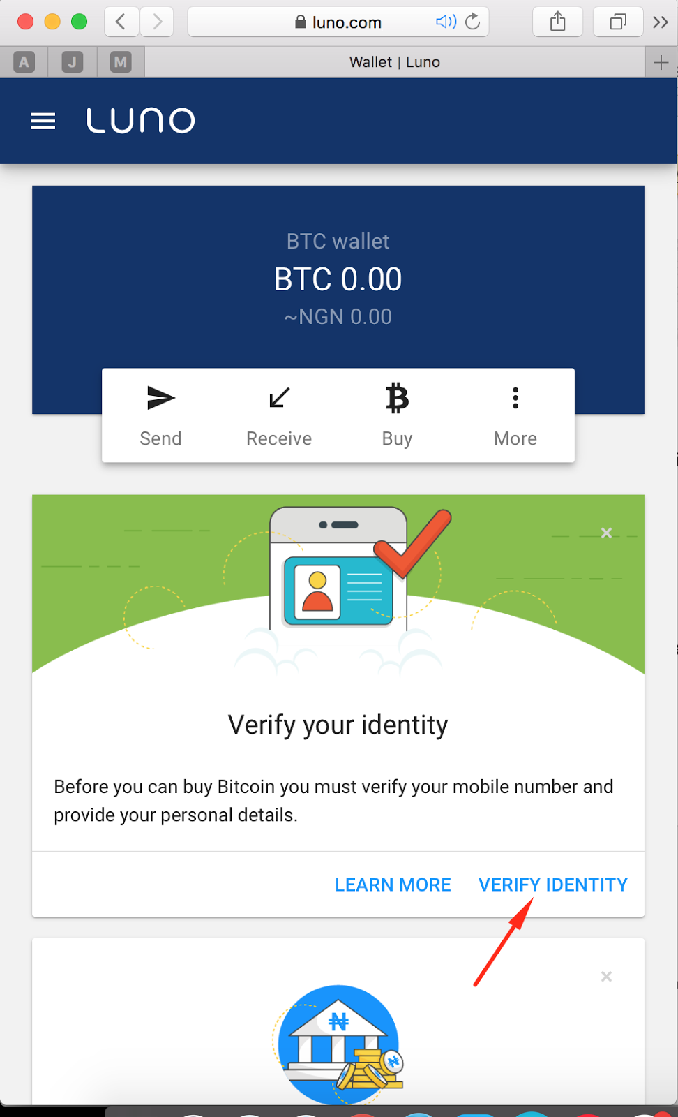 Predictions and fixed match luno guide step 6 you need to verify your account now click on verify identity like below ccuart Image collections