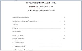 Contoh Laporan PTK Kelas 1, 2, 3, 4, 5, 6 Pdf
