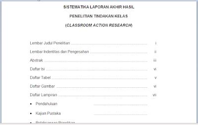 Contoh Laporan PTK SD, SMP, SMA, SMK
