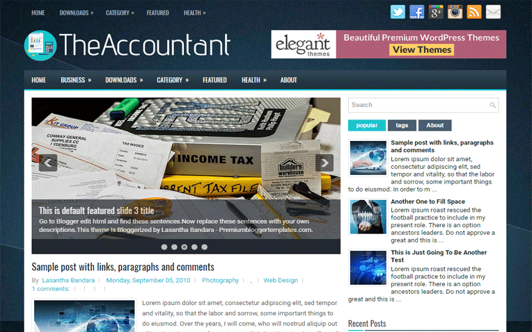 TheAccountant Free Blogger Template