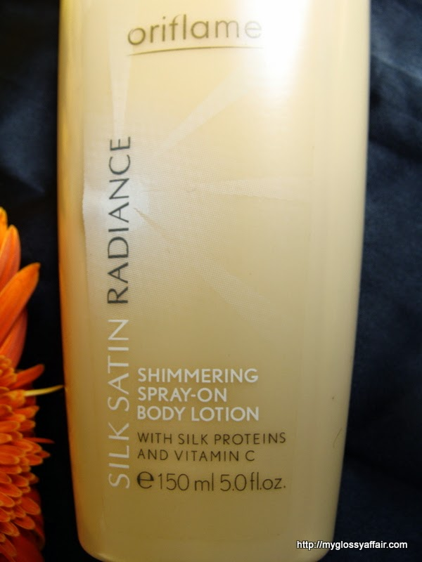 Oriflame Silk Satin Radiance Shimmering Spray On Body Lotion Review