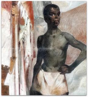"""O Negro - """"Formação do Rio Grande do Sul"""" - Aldo Locatelli (1960), Teatro do Sesi, FIERGS, Porto Alegre"""