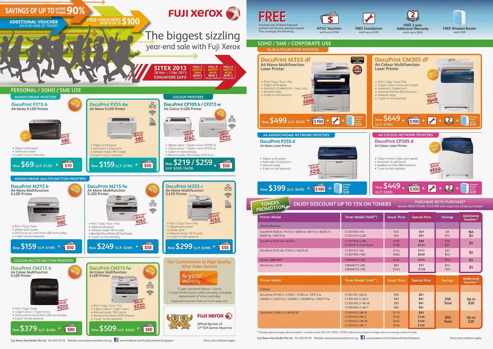 SITEX 2013 - Fuji Xerox Printers' Promotional Flyers - The Tech