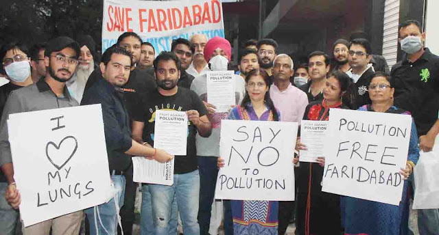 Make people aware of creating pollution free Faridabad