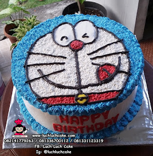 Kue Tart Doraemon Sederhana Lucu