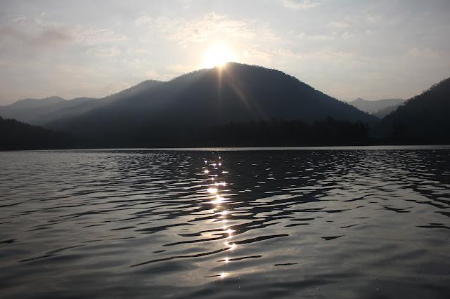 sunrise, Mae Ngat dam, Chiang Mai
