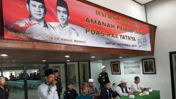 Prabowo-Ustaz Abdul Somad Dideklarasikan Jadi Capres-Cawapres