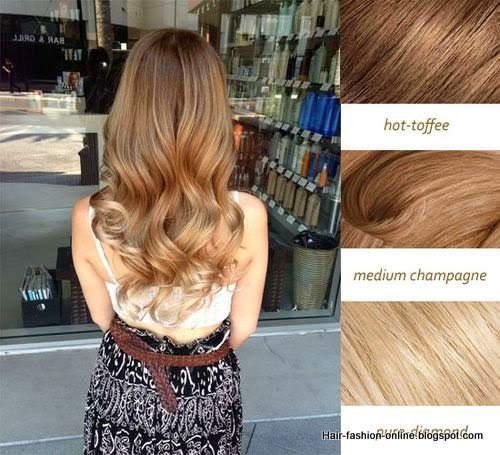sun kiss hair color with hot coffee medium champagne and pure diamond colors