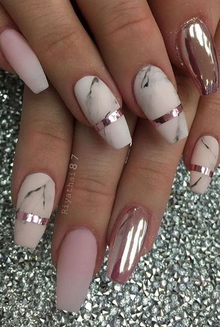 CHROME NAIL ART IDEA