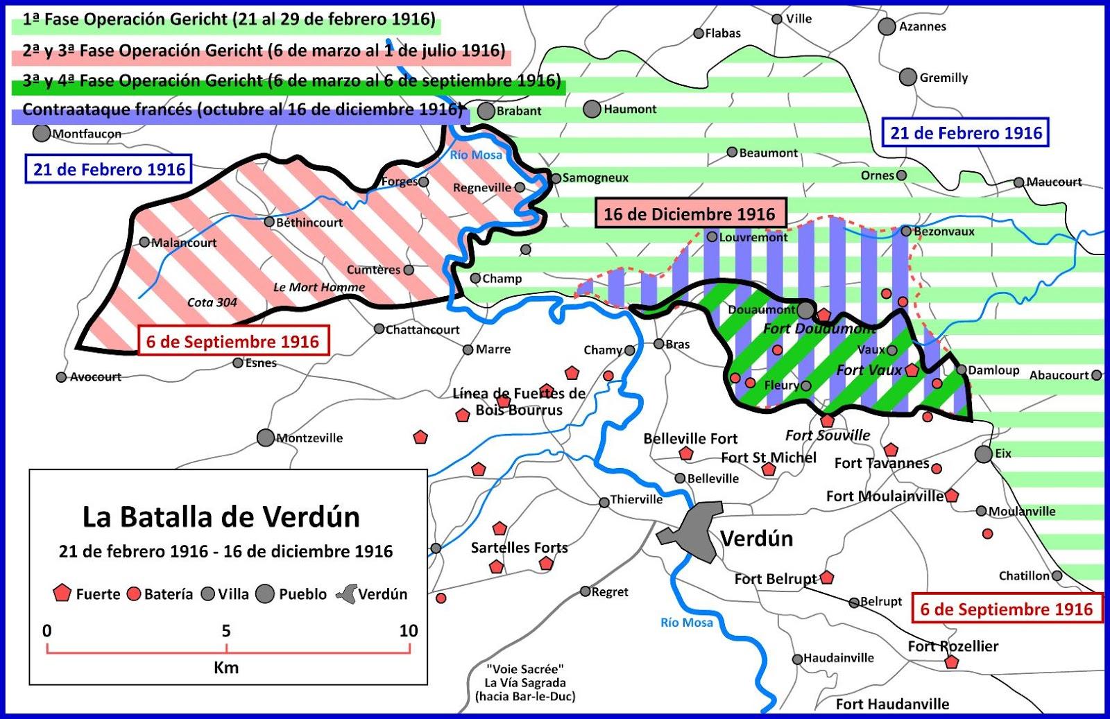 Batalla De Verdun Mapa.La Primera Guerra Mundial A Cien Anos Vista 2016