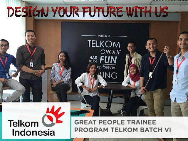 Lowongan Kerja BUMN PT. Telekomunikasi Indonesia, Tbk Great People Trainee Program Batch VI Mei 2017