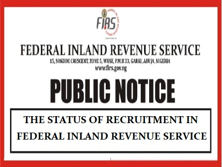 FIRS STATUS OF RECRUITMENT