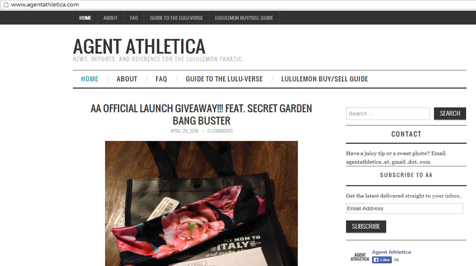 0dca9314f New Lululemon Blog - Agent Athletica