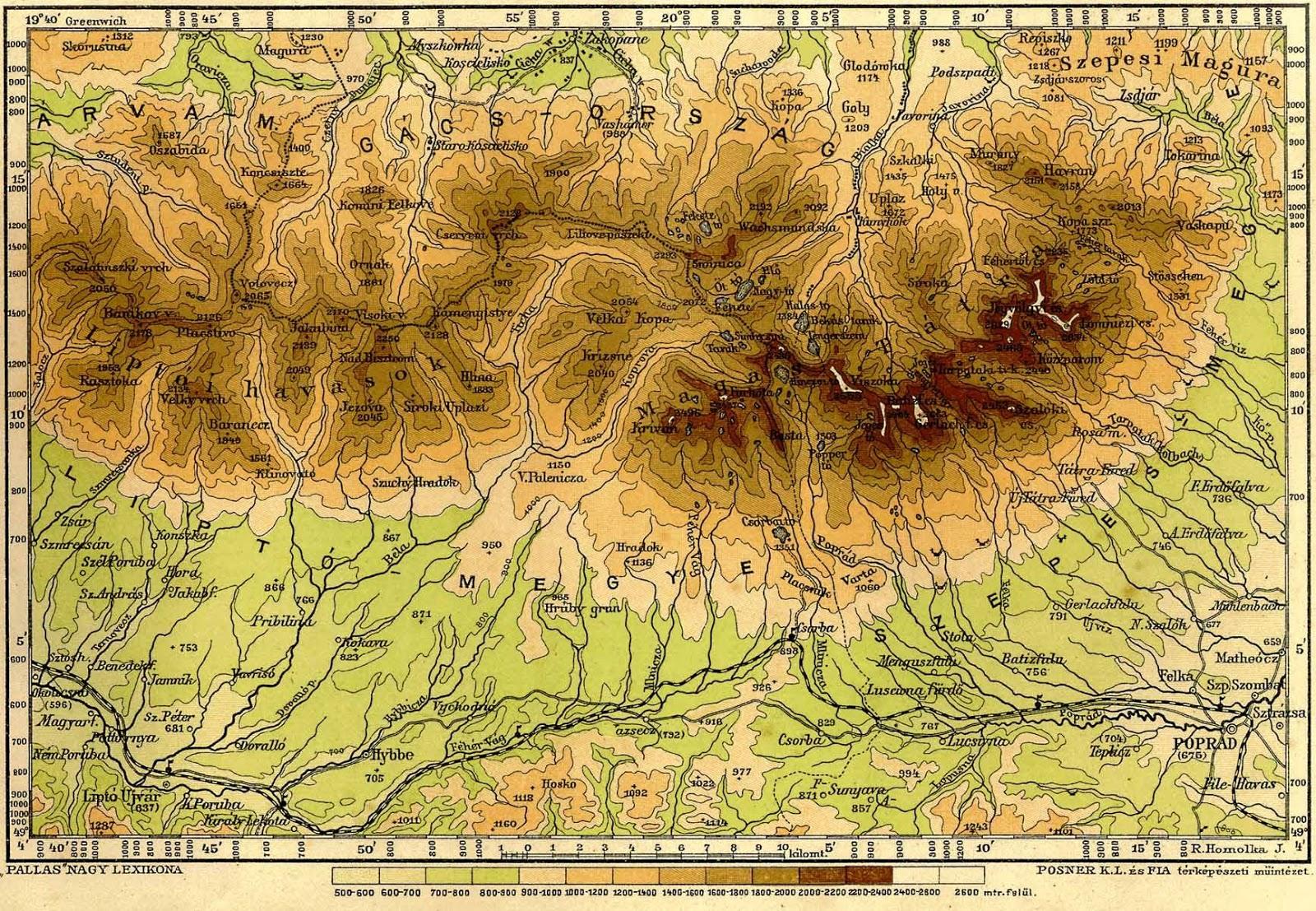 magas tátra térkép magas tatra.info: Tátra térkép – Pallas Nagy Lexikona magas tátra térkép