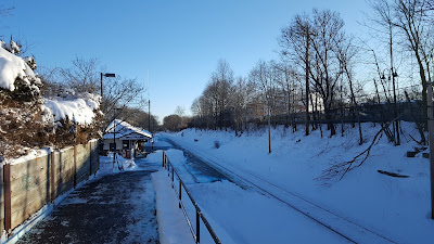 Franklin Dean Station in the snow