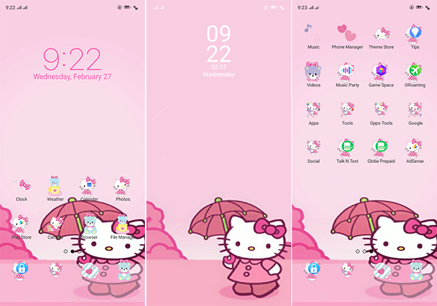 Oppo Theme: Oppo A3s Hello Kitty Theme