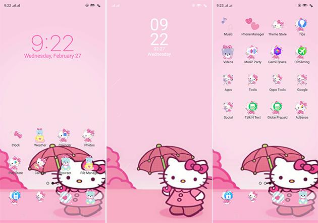 Oppo Theme: Oppo A3s Hello Kitty Theme