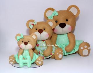 ursinhas pra cha de bebe