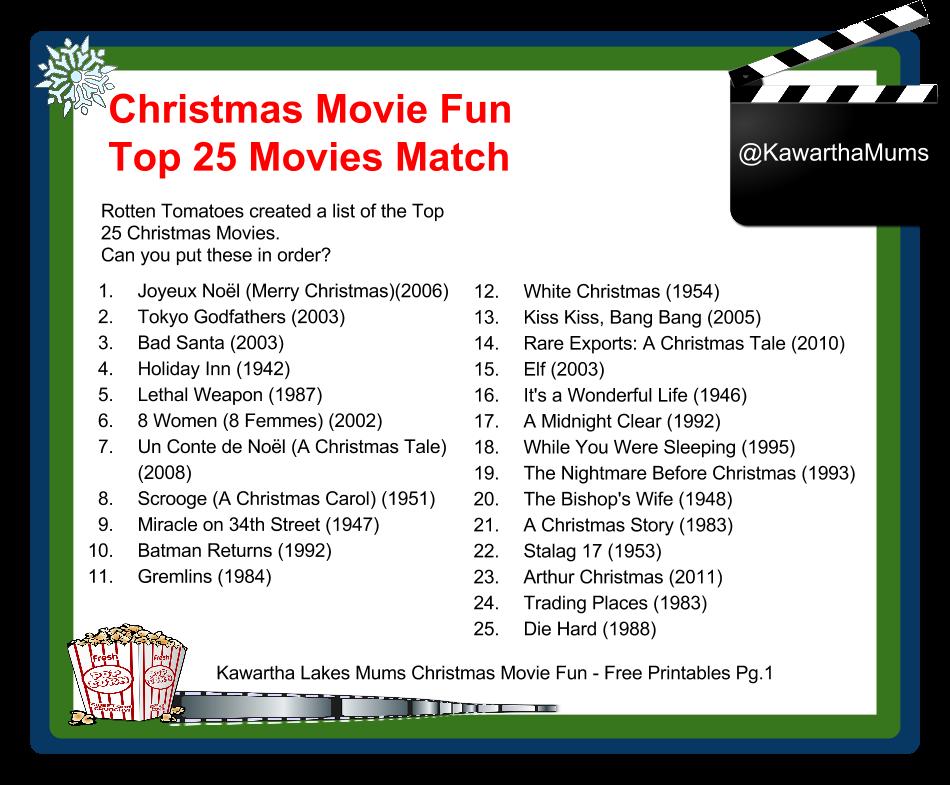 Free Christmas Printables With Favorite Movie Quotes: Kawartha Lakes Mums: Christmas Movies