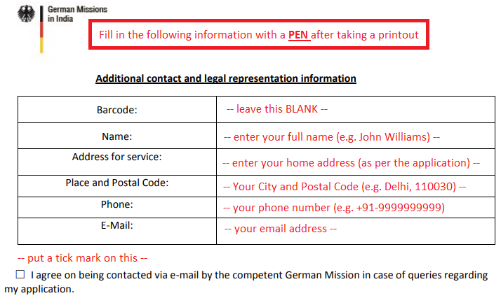 EMP#08 - How to fill Contact and Legal Representation Information for Germany Work Permit?